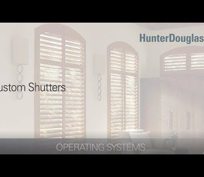 Custom Shutters - Operating Systems - Hunter Douglas