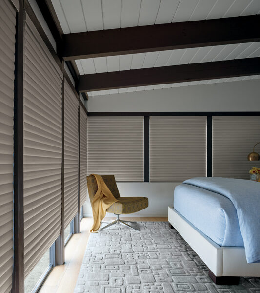 room darkening automated shades in Reno NV bedroom