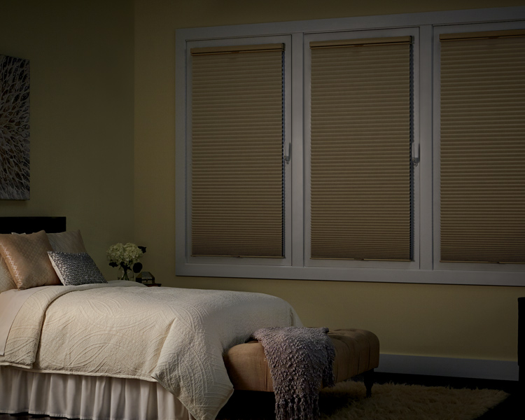 master bedroom with hunter douglas duette honeycomb shades for blackout solution Reno 89504