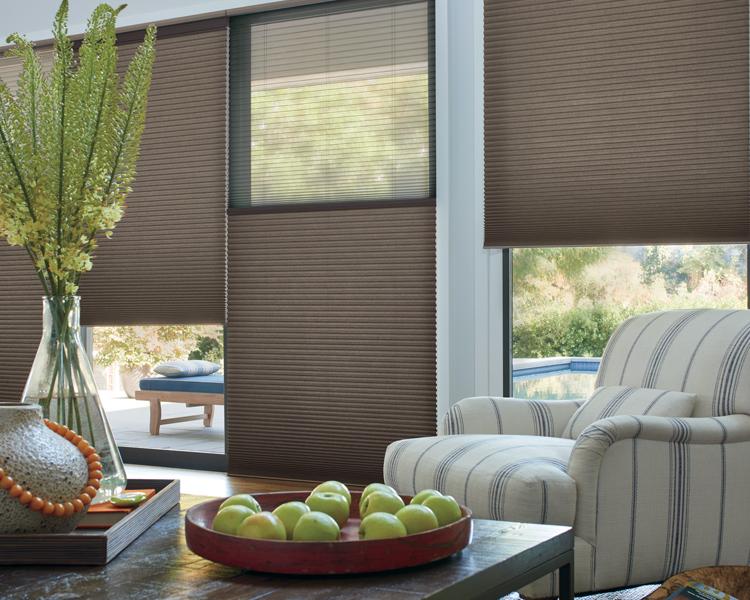 tall windows with dual shades honeycomb shades Reno NV