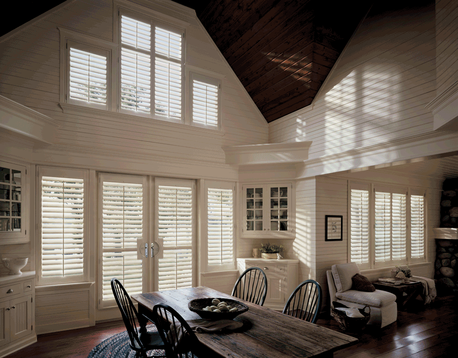 Reno plantation shutters for decorating your whole house with the same window treatments