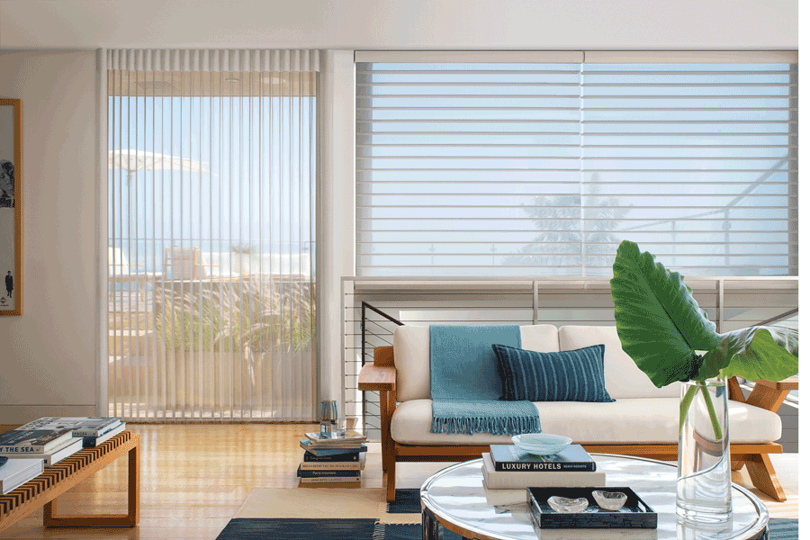 Reno window treatments for sliding glass doors that match the window shades