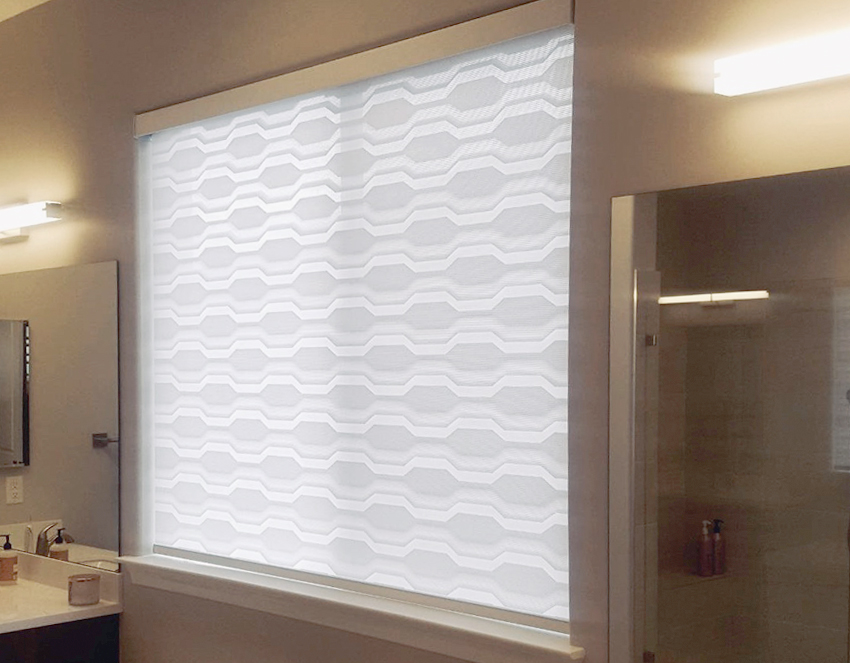recent work bathroom designer banded shades by hunter douglas Reno