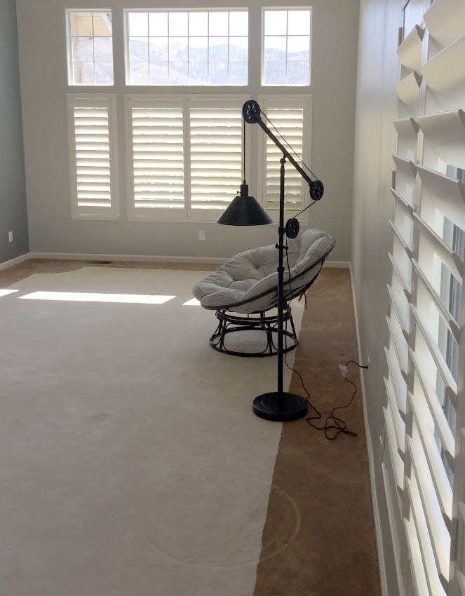 recent work hunter douglas plantation shutters on large windows Reno