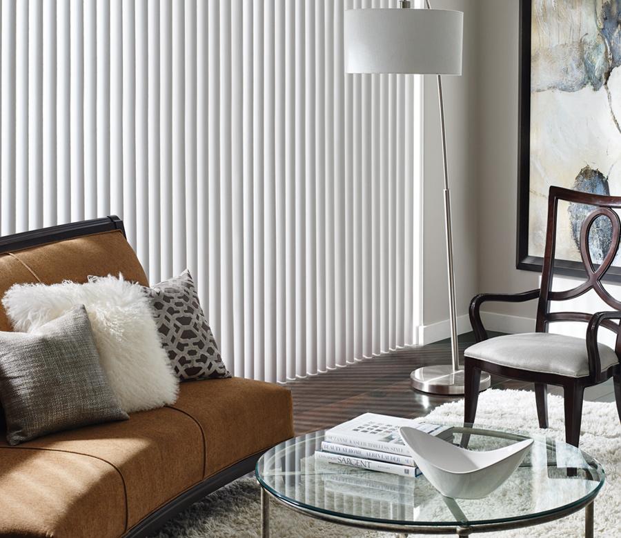 cadence soft vertical blinds on large windows Reno NV