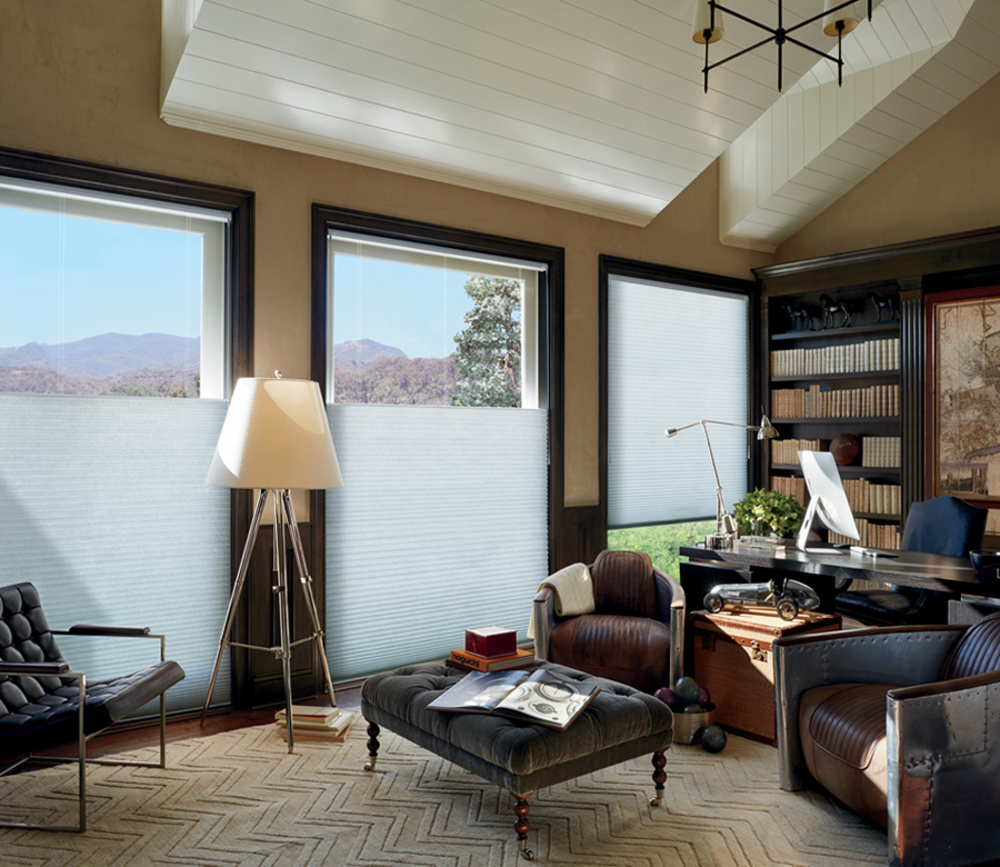 white top down shades in home office Incline Village NV