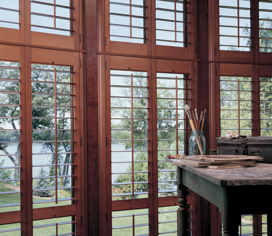 hardwood shutters for hard to reach windows Incline Village NV