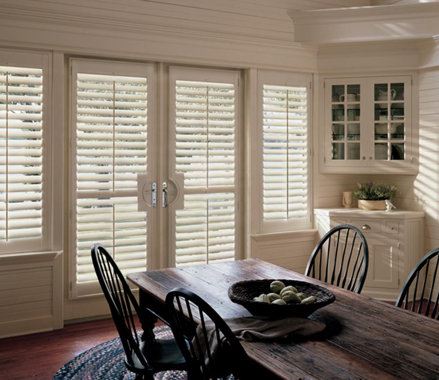 hardwood shutters in dining room Tahoe