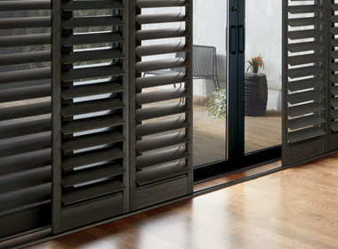 hunter douglas black hybrid shutters Reno NV