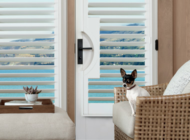 hunter douglas polysatin shutters Reno NV