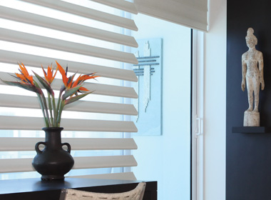 hunter douglas pirouette shades on sliding glass doors Reno Nv