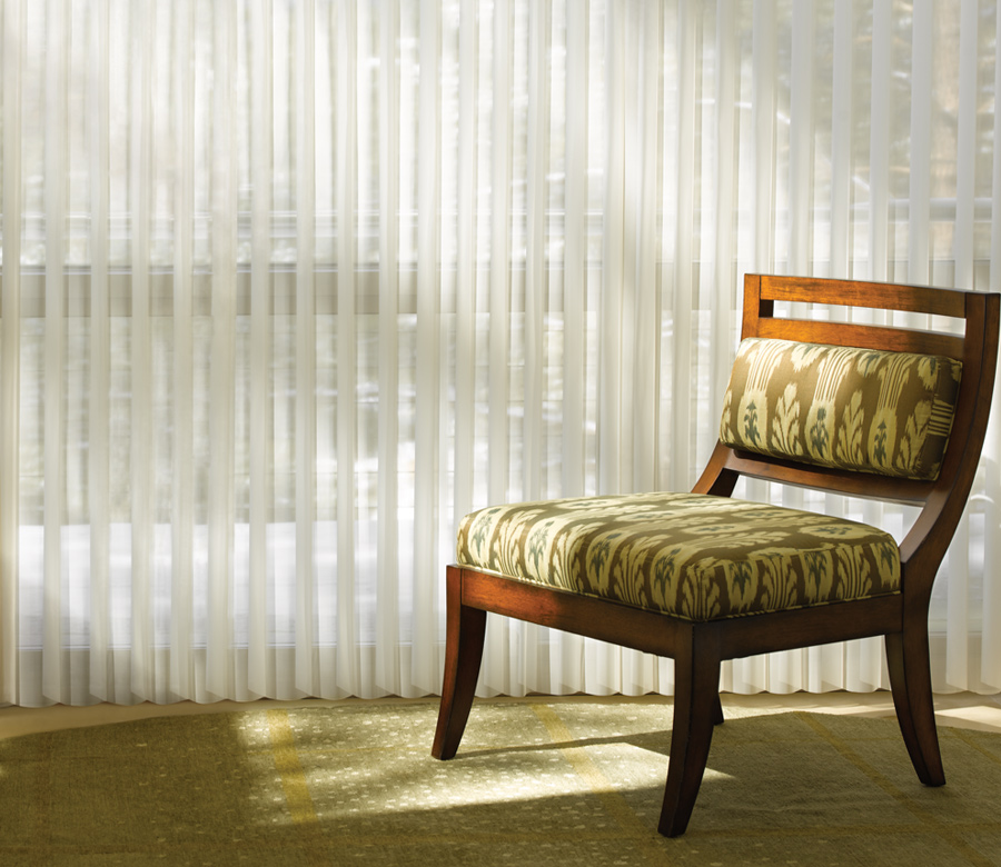 sheer drapery shades for vertical opening on glass doors Incline Village NV