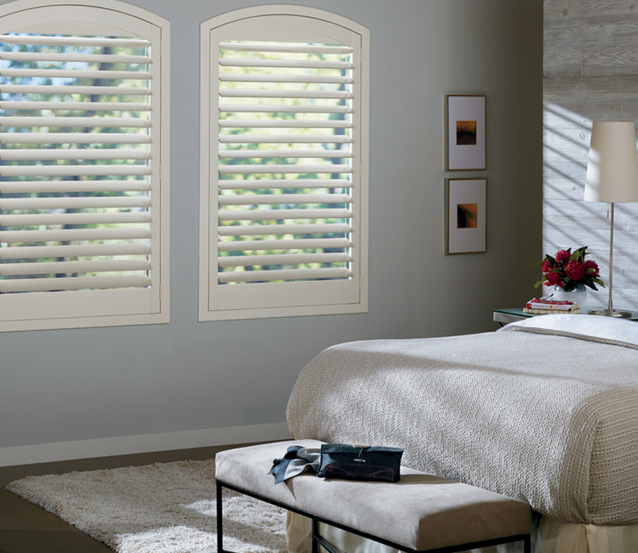 arched window shutters in bedroom Reno NV