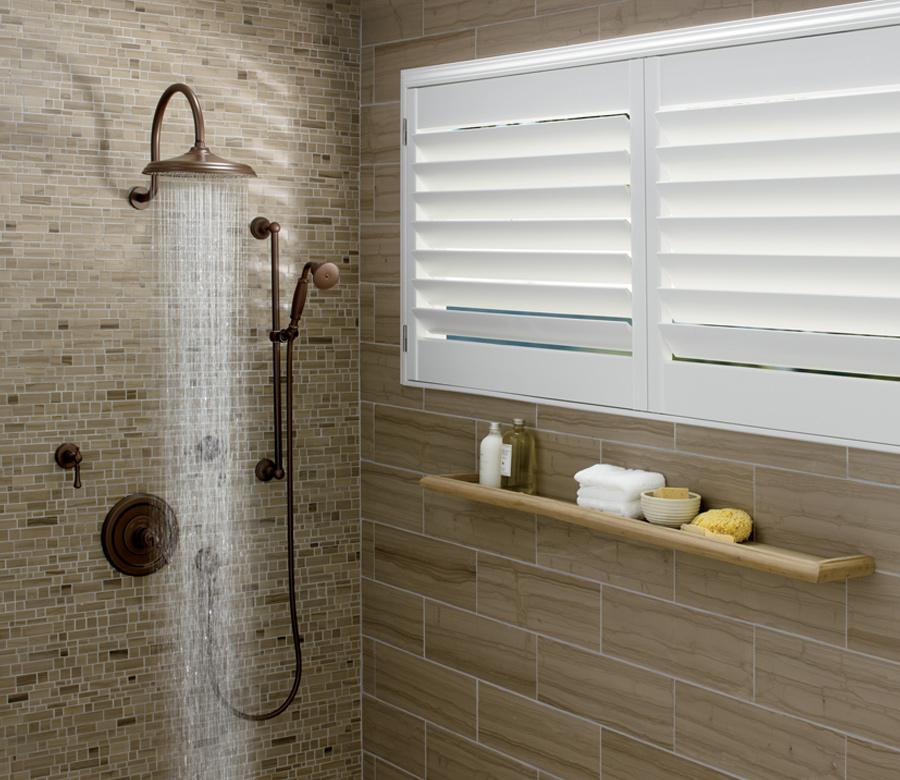 vinyl shutters in master bathroom shower Reno NV