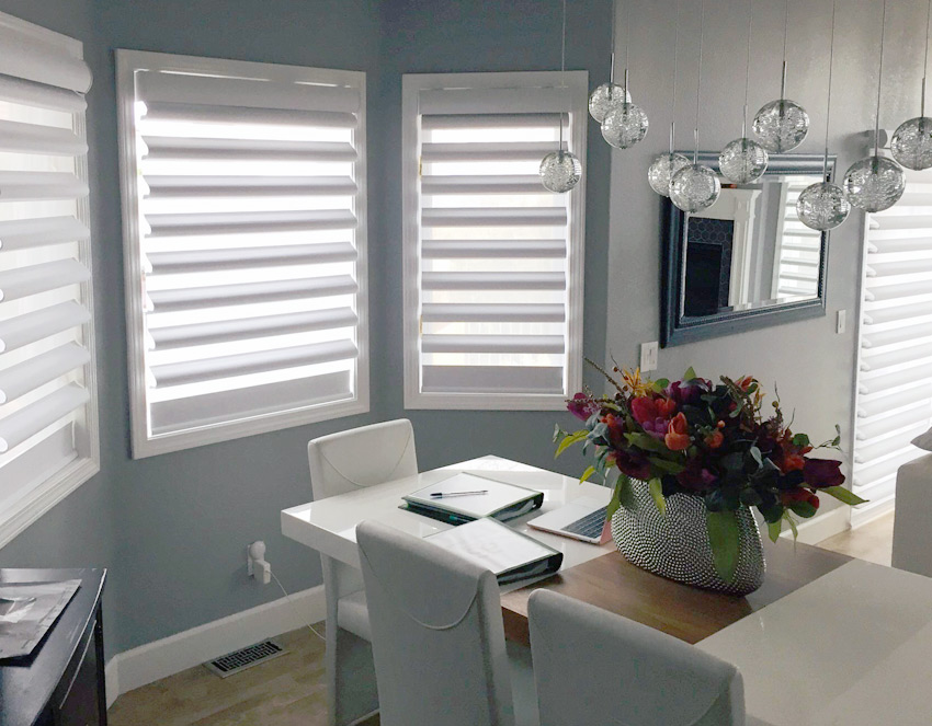 living room pirouette shades hunter douglas reno