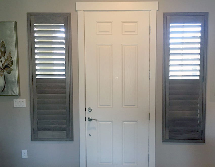 entryway plantation shutters hunter douglas reno