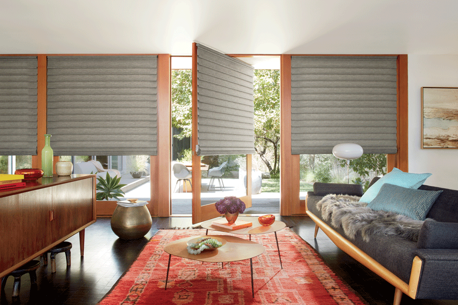 turn style doors with roman shades Incline Village NV