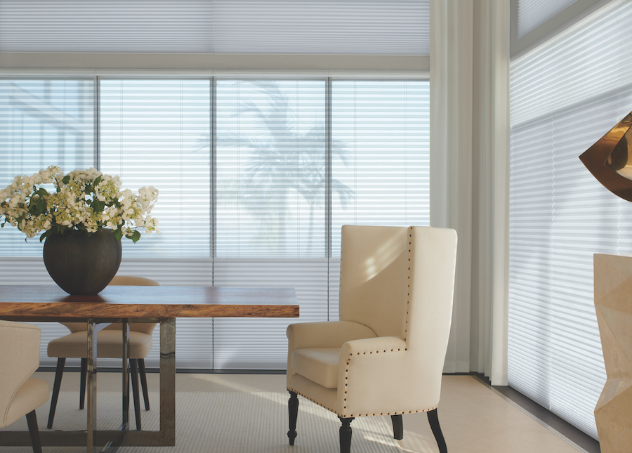 cellular shades with top portion light filtering bottom portion room darkening dual shades Reno NV
