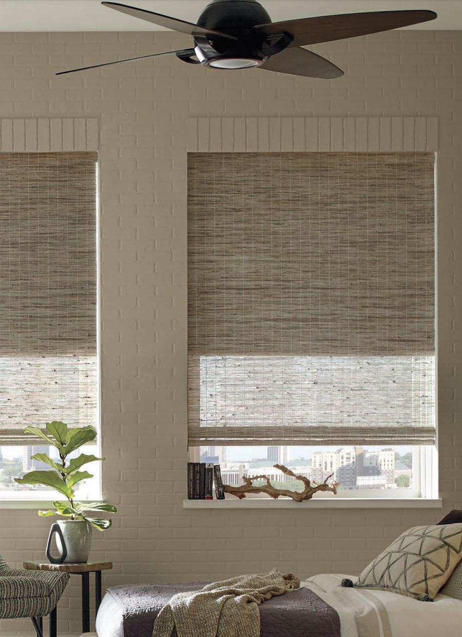 woven woods dual shades in living room Reno NV
