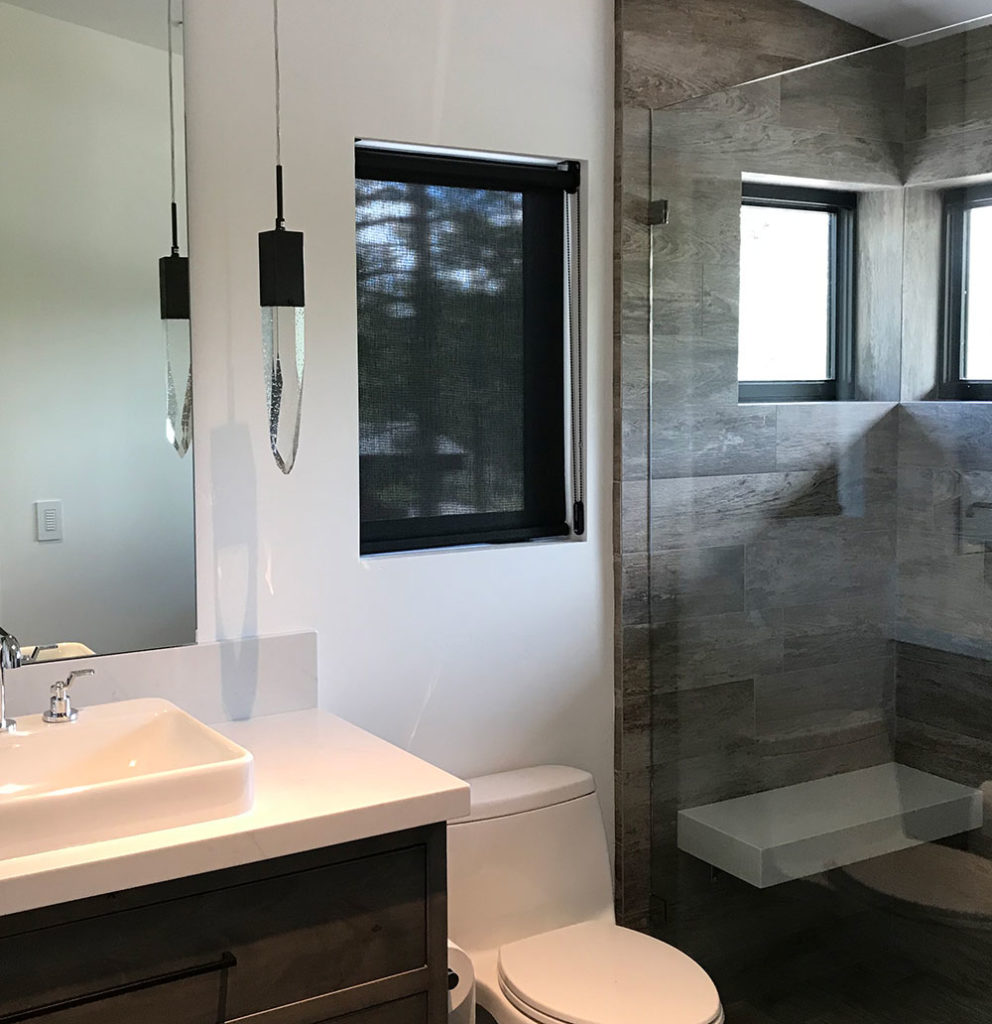 modern bathroom designer screen shades reno NV