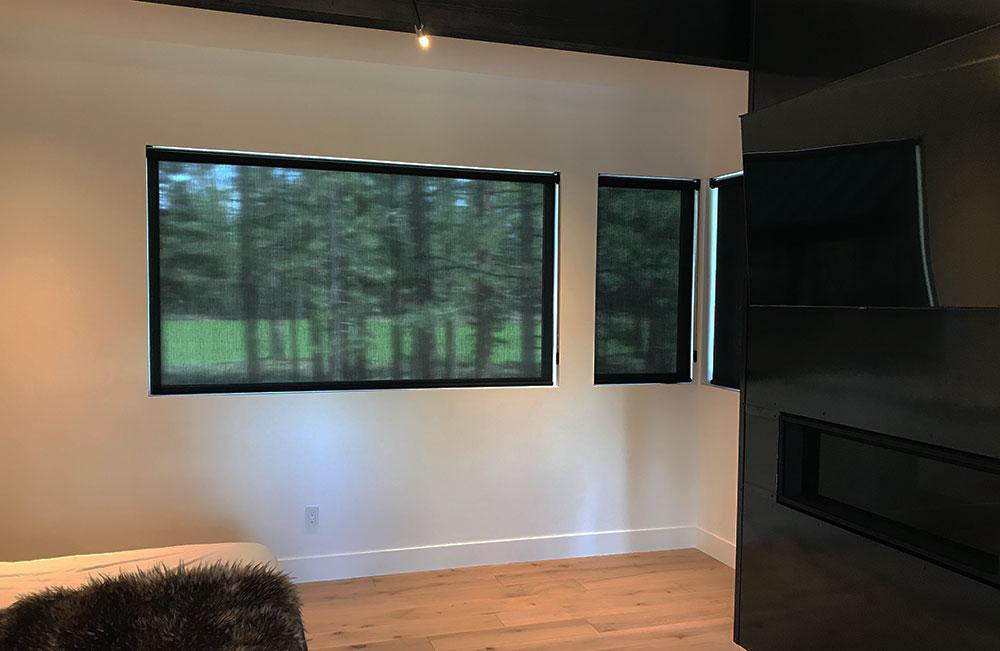 modern bedroom designer screen shades reno NV
