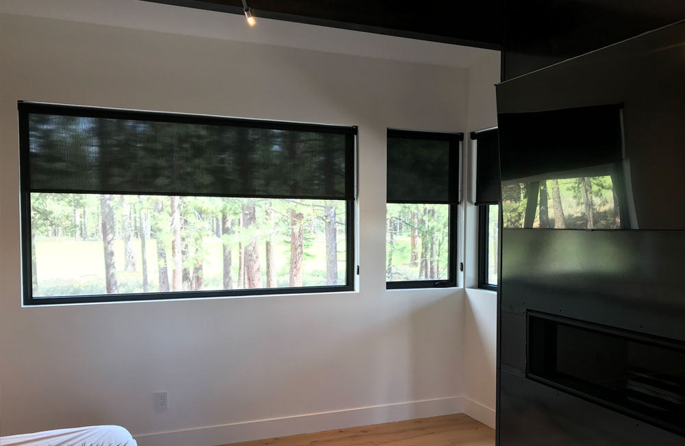 modern bedroom designer screen shades reno NV