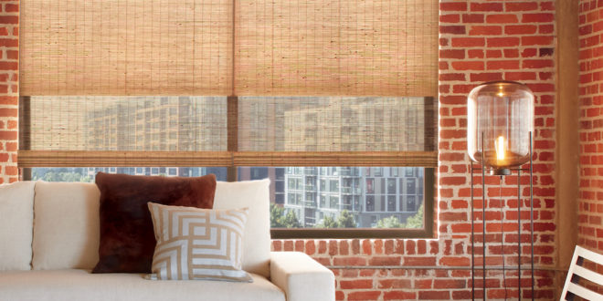 energy efficient woven woods with exposed brick Reno NV