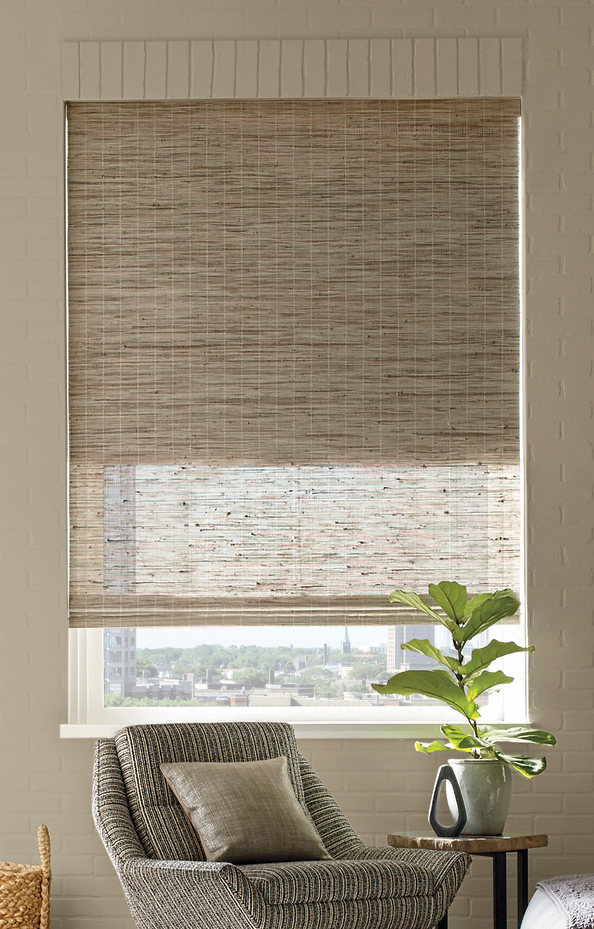window sill living room dual shade provenance energy efficient woven woods