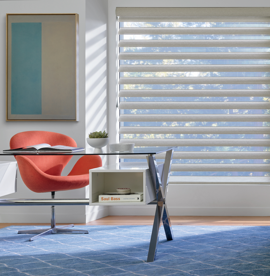 Pirouette sheer shades in an office