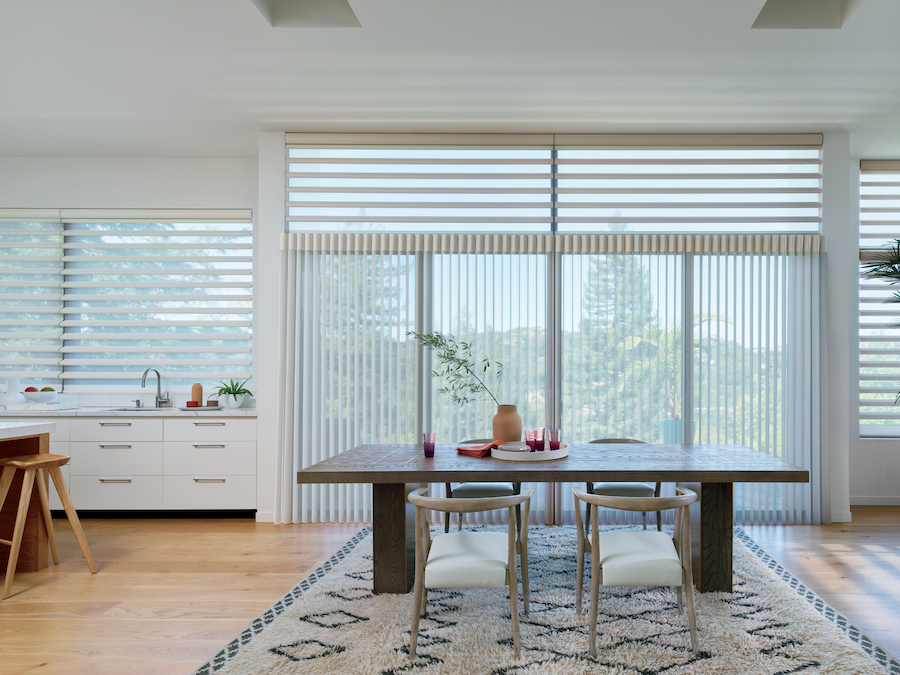 Pirouette® Window Shades in a dinning room.