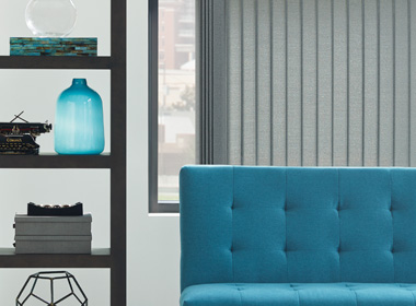 gray vertical blinds in Reno NV