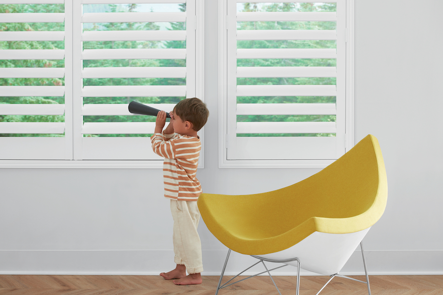 child safe plantation shutters in child's playroom in Reno NV