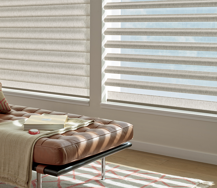 pirouette sheer shades with remote control adjustment in Reno NV
