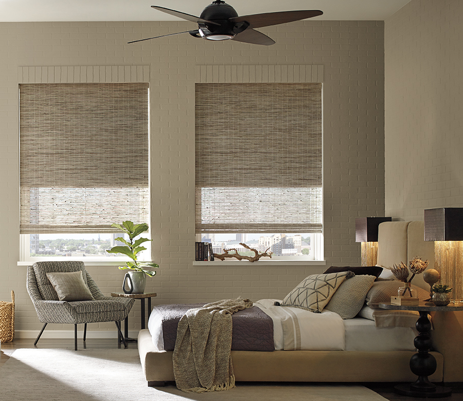 dual shades with energy efficiency from the Provenance woven wood shades collection Reno NV