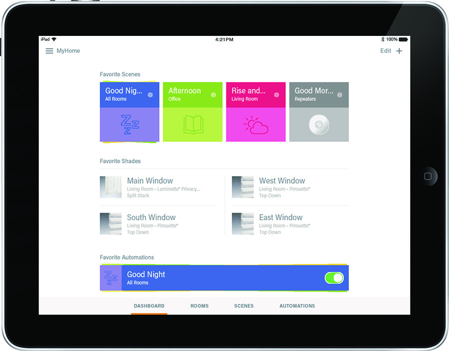 powerview dashboard for smart home device in Incline Village NV
