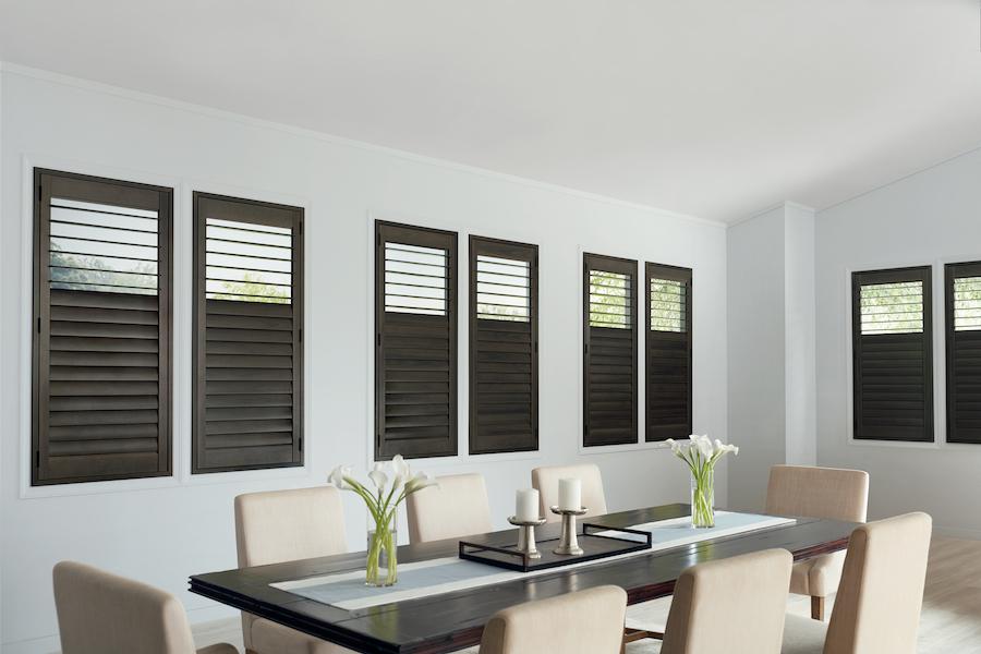 dining room modern vibe plantation tilt shift design shutters