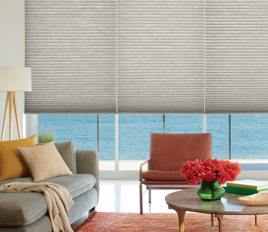 duette honeycomb shades add energy efficiency to Incline Village NV home