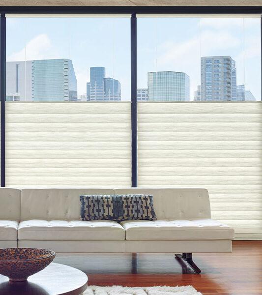 top down white modern roman shades insulate windows in Reno NV