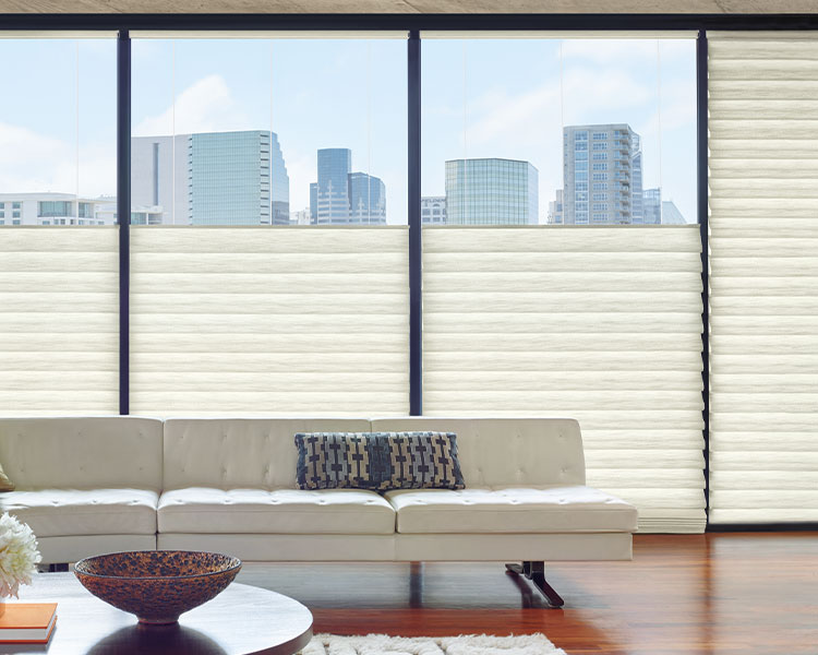 top down white modern roman shades insulate windows in Reno NV