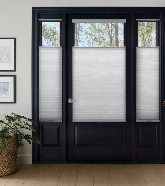 top down cellular shades for entryway door windows and sidelights in Incline Village NV