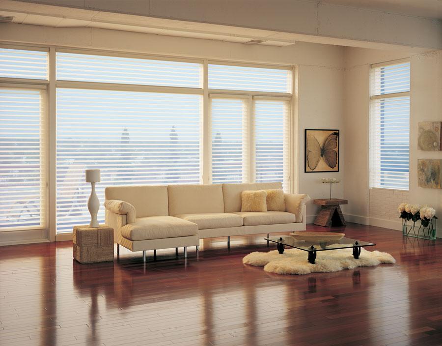North facing windows with sheer shades in Reno NV