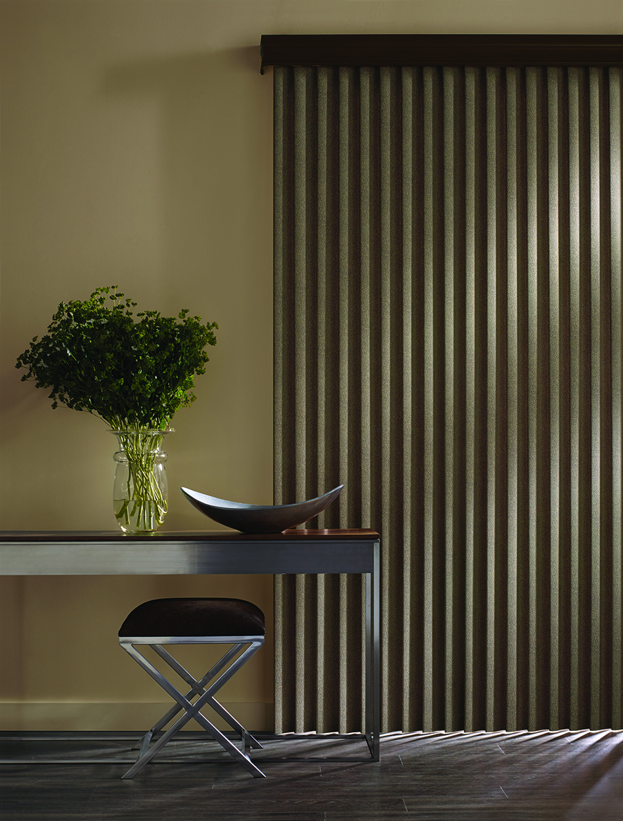 Vertical blinds for ultimate light control and darkness.