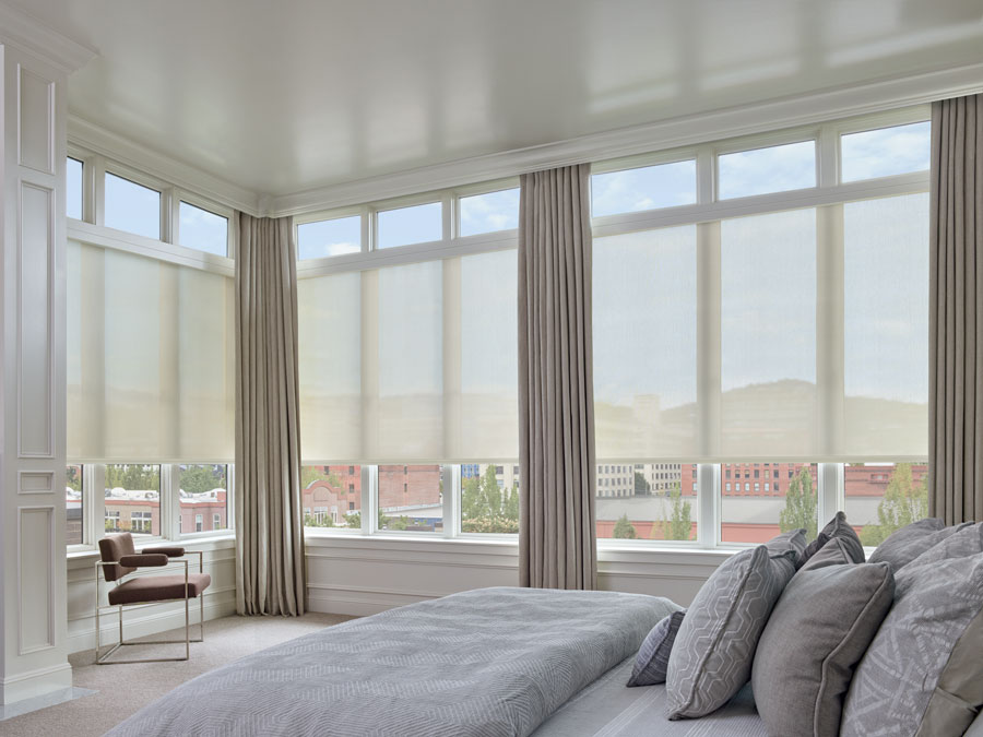 roller shades cover your largest windows in Reno NV condo