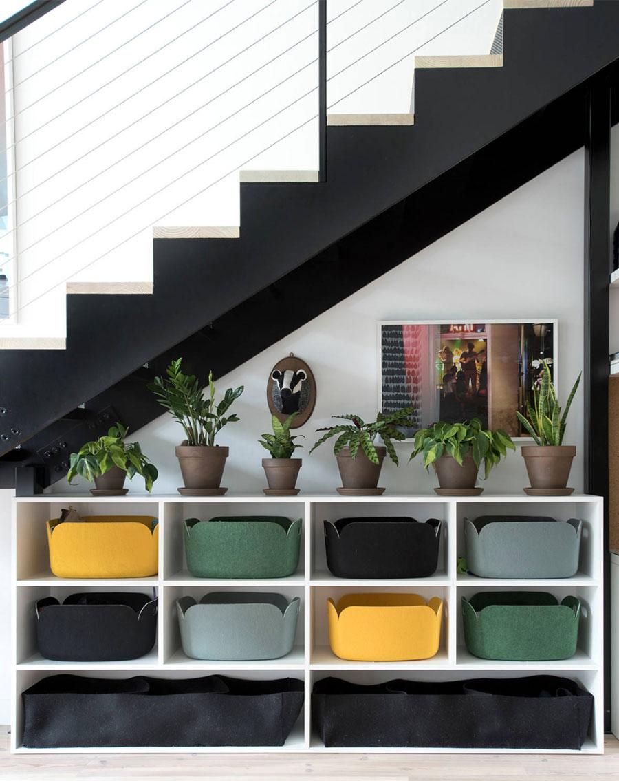 Storage solutions under stairs