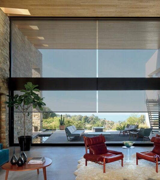 floor to ceiling blinds as roller shades in Incline Village NV