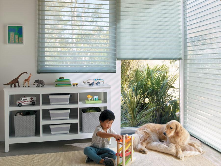 Playroom with cordless shades