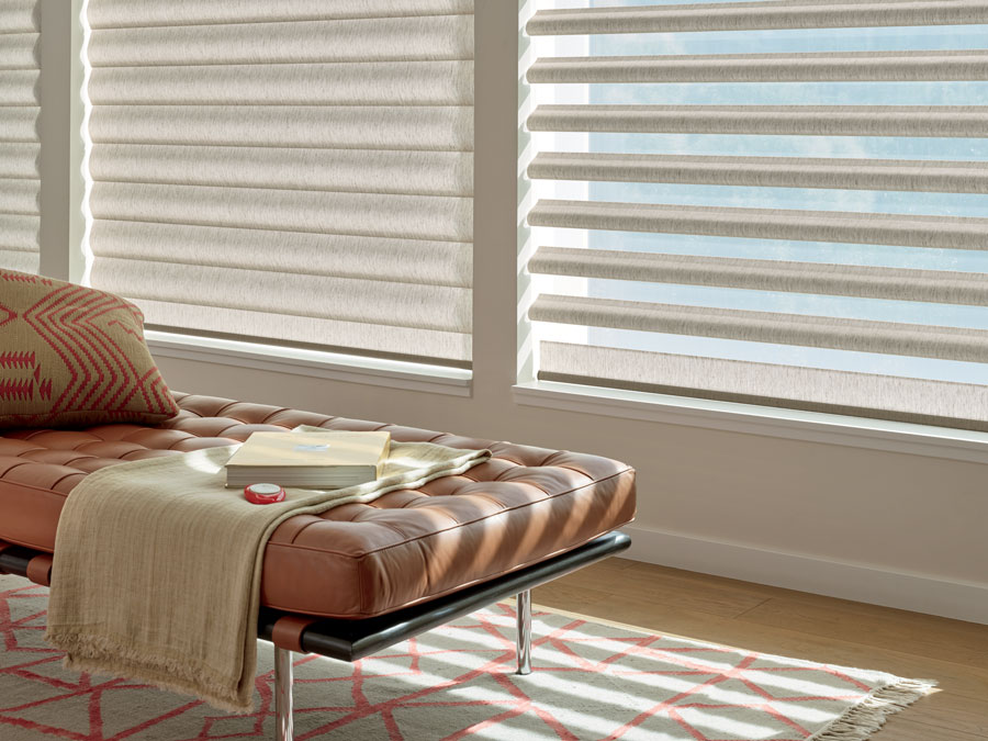 pirouette shades sheer fabric with light blocking solids in Reno NV