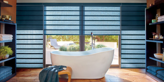 blue roman shades with extra shade for blocking light filtering in incline Village NV