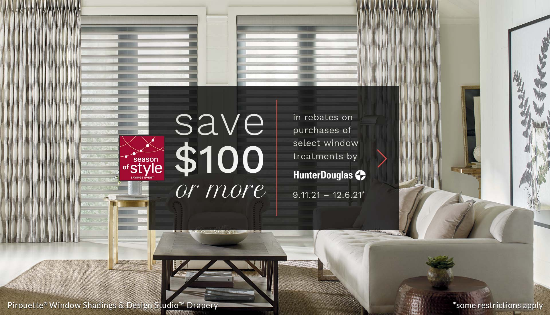 with season of style save 100 or more on window treatments