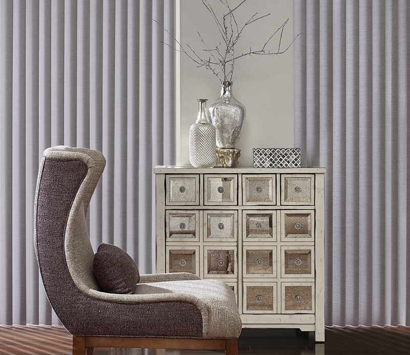 orchid colored modern vertical window shades for room darkening in Incline Village, NV